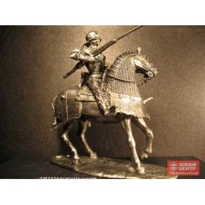 Рыцарь 15 века на коне с копьем 6015kl