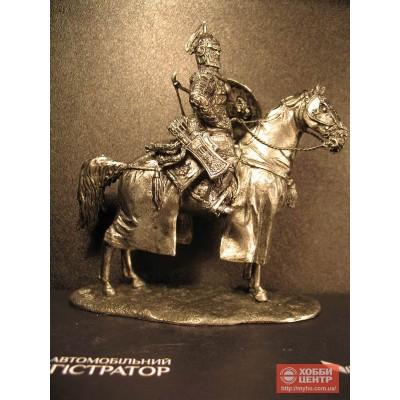 Тяжеловооруженный монгольский всадник оловянный солдатик 6030