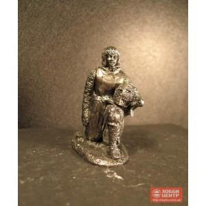 Молодой рыцарь 12 век Англия оловянный солдатик. Kn-04