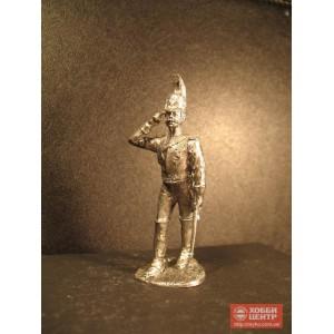 Русский гвардейский кирасир на 1812 год оловянный солдатик Np-02