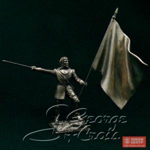 Вождь клана со знаменем. Шотландские кланы 17-18 века 5441.2