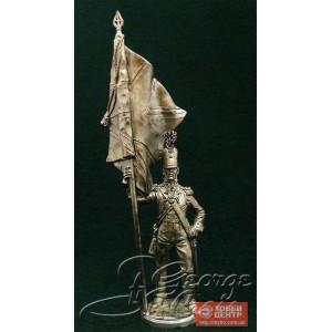 Офицер-знаменосец с королевским знаменем. Шотландцы 92-го Гордона полка 1809-1812 гг. 5569