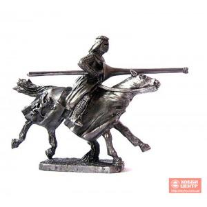 Турнирный рыцарь с тремя копьями 40 мм PTS-4505
