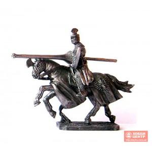 Турнирный рыцарь с тремя копьями 40 мм PTS-4506