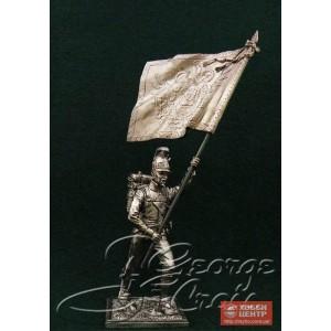Знаменосец с батальонным знаменем. Германские полки линейной пехоты, фузилерная рота 1805-14 гг. 5673.2