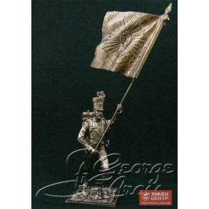 Знаменосец с лейб-знаменем. Венгерские полки линейной пехоты, фузилерная рота 1805-14 гг. 5683.1
