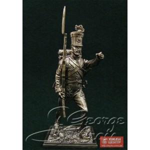 """Унтерофицер, положение """"На плечо"""". Венгерские полки линейной пехоты, фузилерная рота 1805-14 гг. 5684.5"""