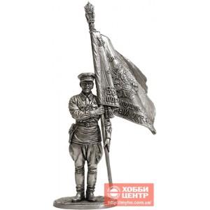 Старший сержант погранвойск НКВД со знаменем погранотряда, 1939-43гг. СССР WWII-54