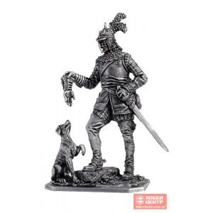 Германский кавалерист с собакой, 1650 год M127