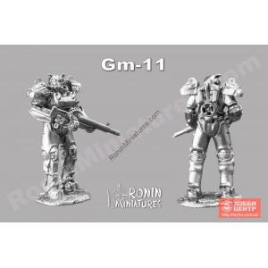 Силовая броня Т-60 из игры Fallout  с винтовкой Гаусса Gm-11