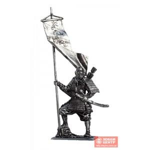 Японский воин-монах с флагом, 1185 год M183