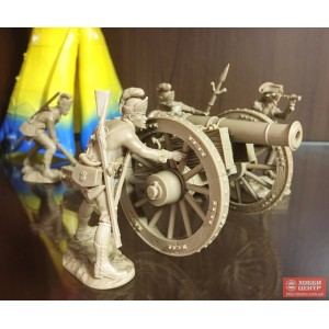 Британский артиллерийский расчет. Американская революция PP set54 032