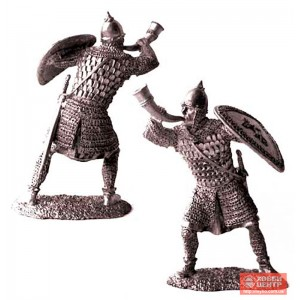 Русский дружинник-трубач, 13 век. PTS-5152