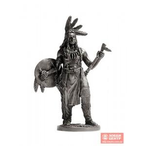 Индеец со щитом и тамагавком WW-15