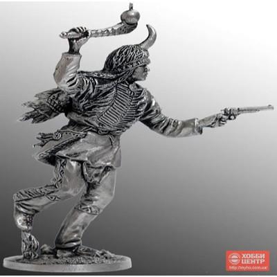 Индеец бегущий с булавой и пистолетом WW-24