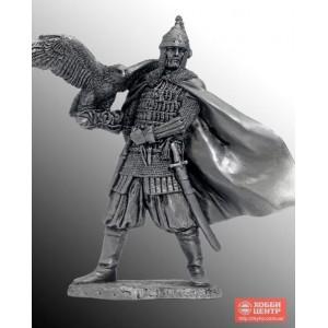 Княжеский дружинник с ловчей птицей. Русь, 10 век EK-75-08