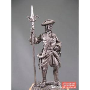 Канонир Артиллерийского плк. с пальником, 1704-25гг. Россия R279