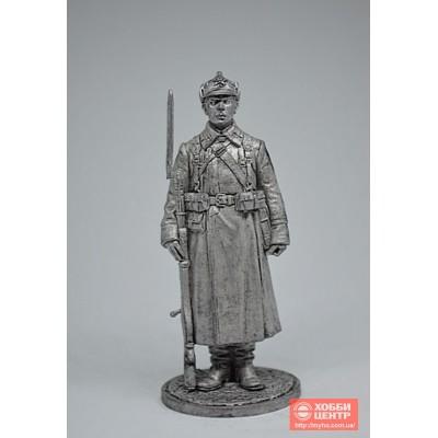 Красноармеец РККА в зимней походной форме. 1939-41 гг. СССР WWII-28